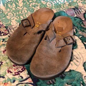 Birkenstock Boston Suede Clogs Size 28
